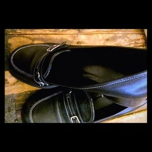 Coach Black Loafers as is